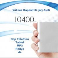 Powerbank 10400 mAh Aluminyum-Kasali-Yuksek-Kapasiteli-sarj-Aleti